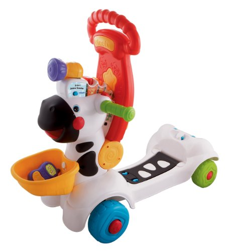 Image of VTech 3-in-1 Zebra Scooter - Multi-Coloured