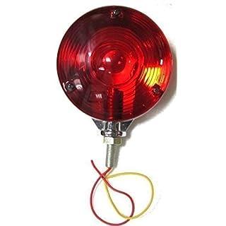 Bajato: Tractor LKW Anhänger Warnleuchte Blinker Lampen Licht Rot Rot 12v Chrom Rahmen