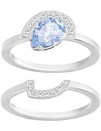 c4c176fe6 Swarovski Women's Ring Gallery Pear Set Czlb/cry/RHS Crystal White Size 52 (