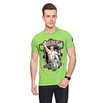 "Mall4all John Cena Neon Green"" Youth T-Shirt"" Size : 44"