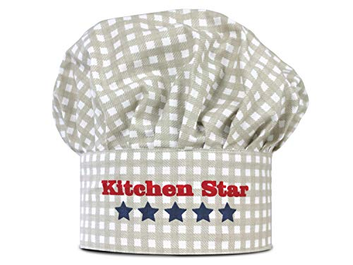 Kochmütze oder Küchenschürze & Topfhandschuh für Kinder - erhältlich in 4 Varianten und einer Einheitsgröße - passend für Kinder im Alter von 3-6 Jahren, Kinderkochmütze, Kitchen Star (11 Stück Bettwäsche-set)