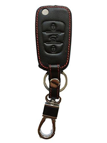 MAINT-Lederetuis Schlüsseltasche Hülle Etui Leder – Schutz & Schlüsselanhänger Ersatz - Schlüssel Cover – für Rio Venga CEE´d Pro Picanto Sorento Sportage Soul Carens