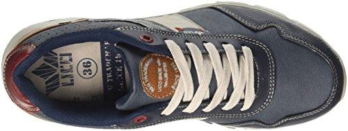 Sneaker Da Uomo Blu Newka Geka (blu / Beige / Rosso)