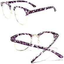 Fulision Uomo Donna Anti-radiazioni Occhiali da vista UV400 Retro tondo Montatura in metallo Anti-usura Occhiali ottici FNs6Oc