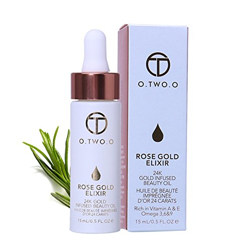 24k Rose Gold Elixir Oil, Hanyia Hyaluronic Acid Liquid Skin Essential Oil Moisturizing Face Oil Anti-Aging -