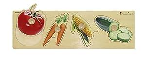 Doron Layeled Gigante Peg Puzzle de Madera-Verduras