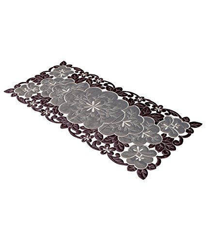 Kuber Industries™ Table Runner in Soft Cloth (Embroidry)