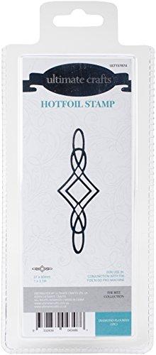 Ultimate Crafts Diamond Flourish Hotfoil Stempel, grau (Collection Hot Couture)
