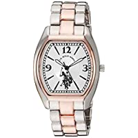 U.S. Polo Assn. Women's Analog Quartz Watch with Alloy Strap, Two Tone, 15 (Model: USC40260AZ)