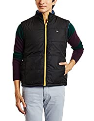 Arrow Sports Mens Polyster Jacket 8907163892423 (8907163892423_AJOS9005_S_Black)