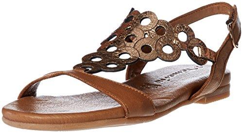 Tamaris Schuhe 1-1-28102-28 bequeme Damen Sandalette, Sandalen, Sommerschuhe für modebewusste Frau, braun (NUT/ROSE MET), EU 40