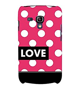Love Dot Pattern 3D Hard Polycarbonate Designer Back Case Cover for Samsung Galaxy S3 Mini :: Samsung Galaxy S3 Mini i8190