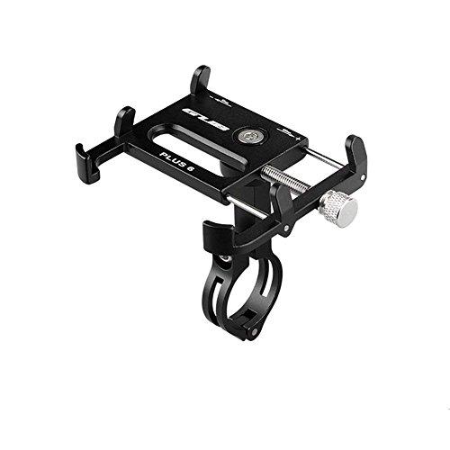 Prämie Fahrrad Telefonhalterung, 360 Grad-Drehung Aluminium Bike Phone Halter Verstellbarer Lenker Handy-Ständer für iPhone 8 X Plus 7/6/5 s / 5 c / 5 /, Samsung Galaxy S9 / S8 / S7 & GPS (Schwarz)