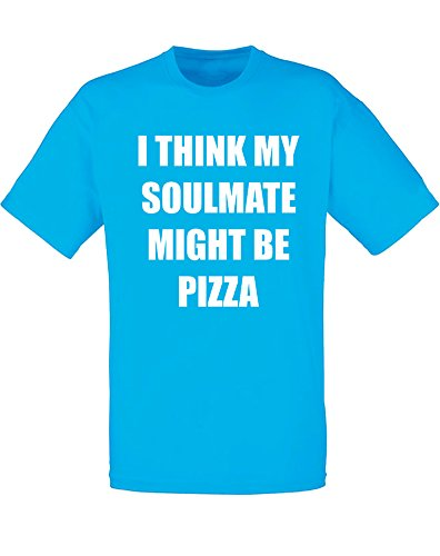 soulmate-might-be-pizza-imprime-des-hommes-t-shirt-azur-blanc-2xl-119-124cm