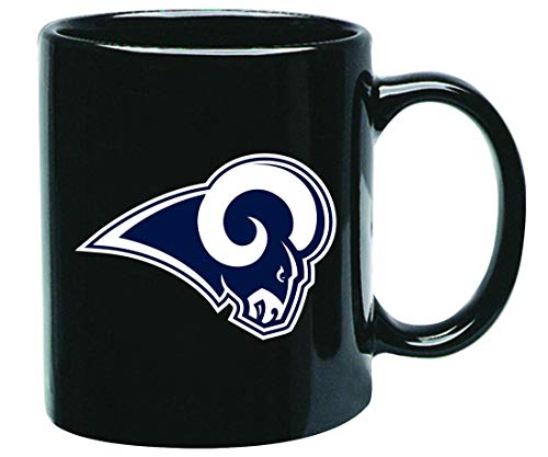 Los Angeles Rams NFL Offizielle Tasse, Becher, Kaffeetasse Black Glossy Groß 425 ml - Angeles-becher Los