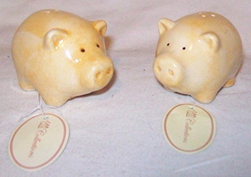 Two Little Piggies: Ceramic Salt & Pepper Shaker Set by TII Collections