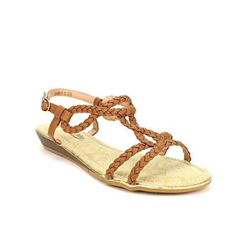 Cendriyon, Sandales Caramels CINKS ME LOOK Chaussures Femme Caramel
