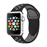 Für Apple Watch Armband 38mm 42mm, VODKER Soft Silikon Ersatz Uhrenarmbänder Sport Smart Watch Armbänder Uhrenarmband für iWatch Apple Watch Series 3, Series 2, Series 1, Nike+, Sport, Edition