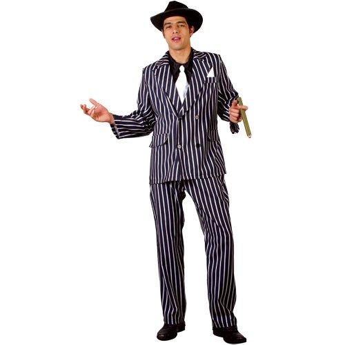 (M) Herren Godfather Gangster Kostüm für 20s 30s Gangster Molls Verkleidung M