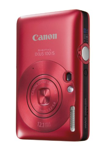Canon Digital IXUS 100 IS Digitalkamera (12 MP, 3-fach opt. Zoom, 6,4cm (2,5 Zoll) Display, HDMI, SLIM) rot Canon Digital Ixus Zoom