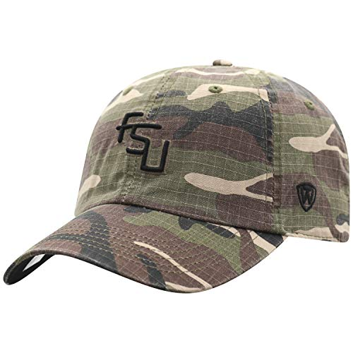 Top of the World NCAA Florida State Seminoles Men's American Hero's Adjustable Icon Hat, Camo (State Florida Seminoles Hat)