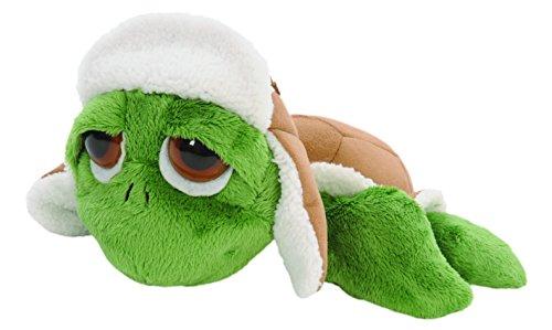 suki-gifts-28257-lil-peepers-pluschtier-grune-rocky-schildkrote-mit-russischer-uschanka-winter-mutze