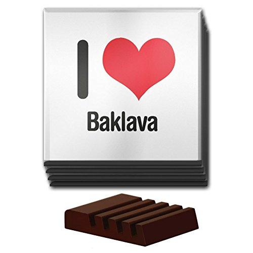 Duke Gifts I love Baklava Set von 4Glas-Untersetzer Holz Halter 1844
