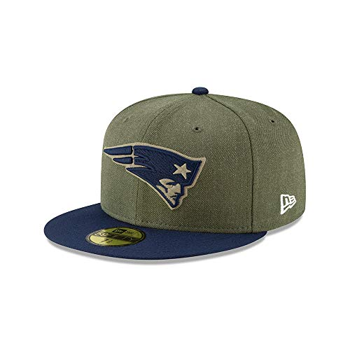 New Era New England Patriots On Field 18 Salute to Service Cap 59fifty 5950 Fitted Limited Edition -