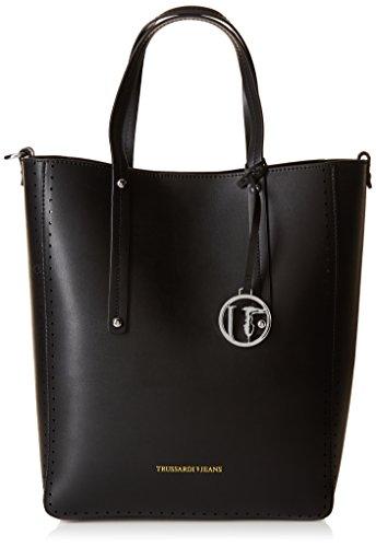 trussardi-jeans-damen-tasche-schwarz-nero-38-cm
