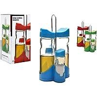 ARTE REGAL Aceitera Y Vinagrera Juego Altura 20 Diametro 9cm 3 Surtido A Elegir 1