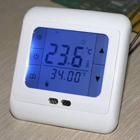 digital de sala de control de calefacción por suelo radiante termostato programable pantalla táctil lcd AC230V 50 / 60hz 5-35