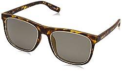 IDEE Mirrored Square Unisex Sunglasses - (IDS2354C5PSG|54|Gold Mirror-Smoke Color)