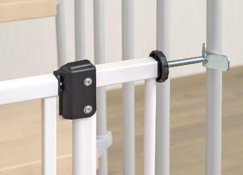 Impag® Treppenschutzgitter 73 – 142 cm für einseitiges Geländer 2 Y-Adapter zum Klemmen ohne Bohren EasyStep + 20 - 3