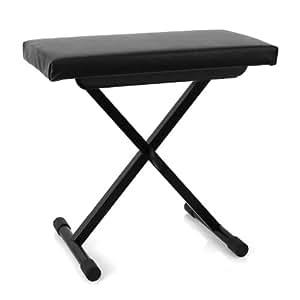 Malone tabouret de piano réglable en hauteur noir