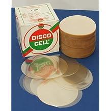 Dalbgas - Discos transparentes de celofán con diámetro de 100 mm para empaquetar hamburguesas de 600