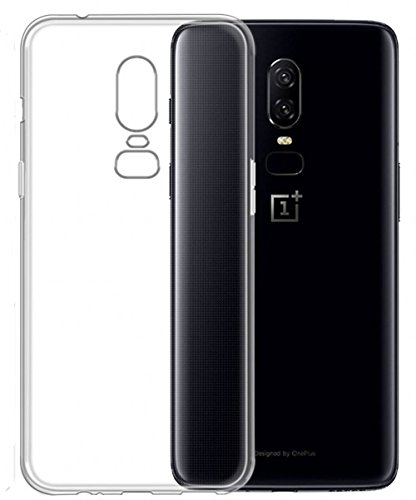Voigeer OnePlus 6 Case, Soft Transparent Crystal Bumper TPU [Shock Absorption Technology] Protective Top Cover for OnePlus 6 - Clear