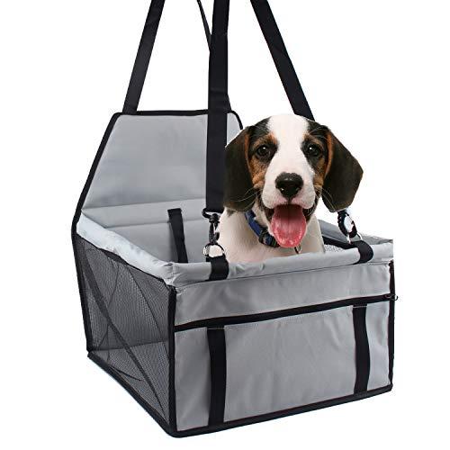 Minve Trasportino da viaggio per auto, per cani e gatti, pieghevole e impermeabile, con cintura e custodia