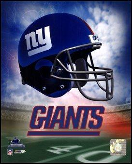 N.Y. Giants Casque Logo Art Poster PRINT inconnu 8 x 10