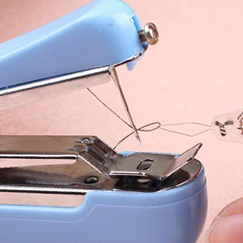 ngshanquzhuyu Delicated Aleatorio Color Útil Portátil Labores sin Cables Mini Manual Ropa Telas Máquina de Coser Pantalones para Decoración Hogar - Colores