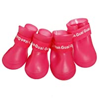 Doggie Style Store Pink Waterproof Rain Boots Dog Wellies - 3 Sizes