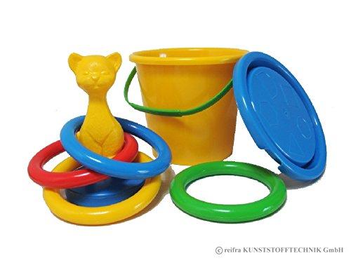 """Preisvergleich Produktbild Sandeimer mit Wurfspiel """"Katze"""" Ringwurfspiel Ring Wurf Spiel Sandspielzeug NEU"""