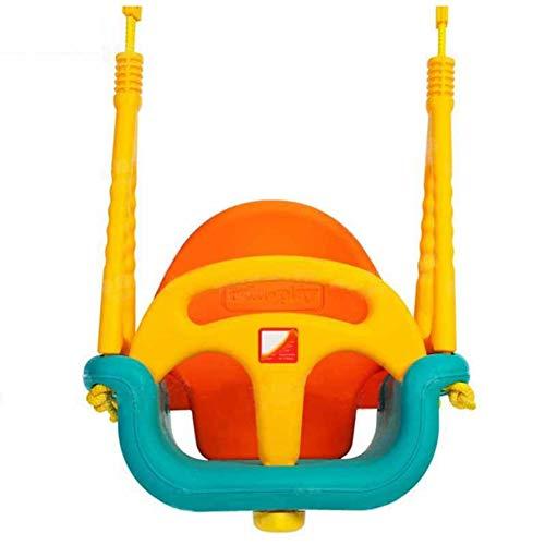 LOO LA Kids Garden Plastikschwenke, mit Adjustable Ropes Children ' S Moulded Swing Seat