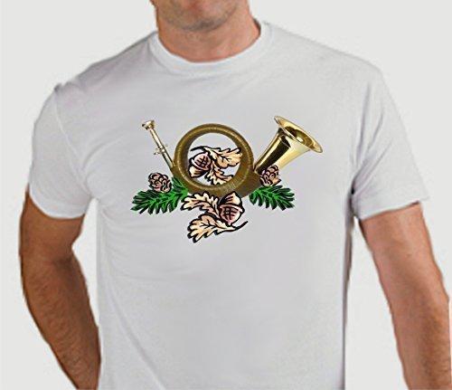 T-Shirt mit Wildmotiv Jagdhorn