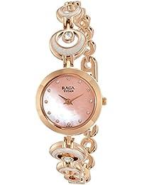 Titan Analog Pink Dial Women's Watch-NK2540WM03