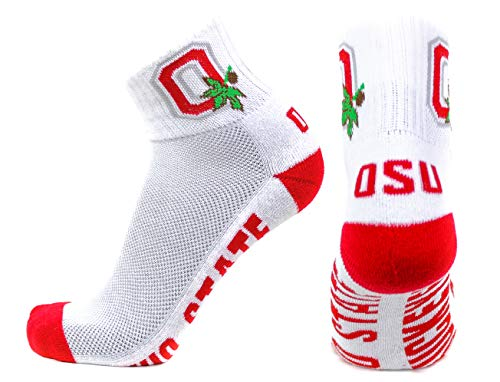 Donegal Bay NCAA Alabama Crimson Tide QTR Socken, Herren, White/Scarlet/Green, one size fits most (Athletic-logo-socken-white)