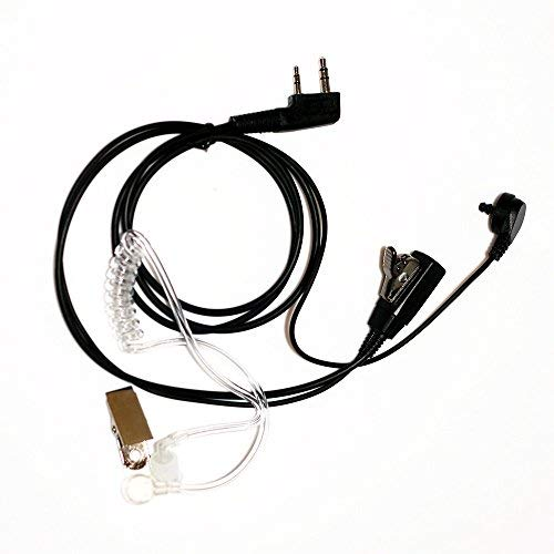 Trido 2-poliges Akustikschlauch-Headset mit PTT-Mikrofon für Baofeng Zweiwege-Radios UV-5R UV-B6 BF-888S UV-B6 UV-B5 Walkie Talkies
