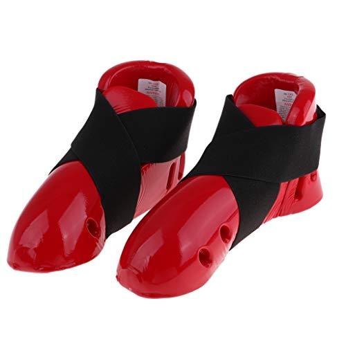 Erwachsene Taekwondo Fußschutz Karate Sparring Fuß Gang Schutz Sparring Schuhe - Rot S