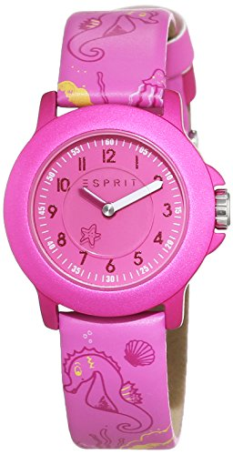 Esprit Unisex Watch Sea Playground ES103454012 Analogue Display and Pink Leather