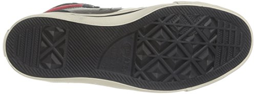 Converse, Pro Blaze HI Leather/Suede, Sneaker, Unisex - adulto Charcoal/Black/Red