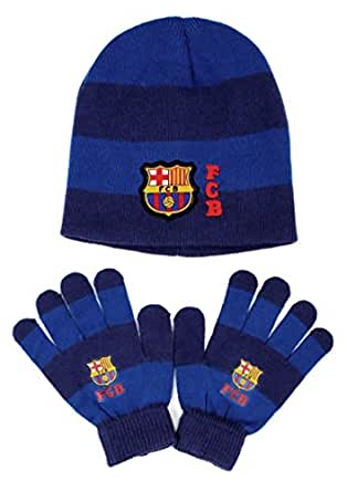 Set bonnet et gants Barcelone